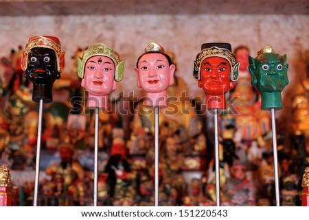 Buddhist temple in Phuket, Thailand - travel and tourism image.  - stock photo