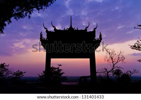 Buddhist temple Pagoda - stock photo