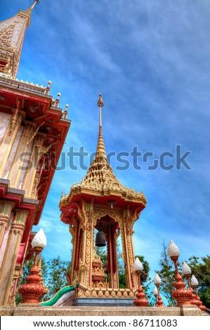 Buddhist temple Wat Chalong in Phuket, Thailand - stock photo
