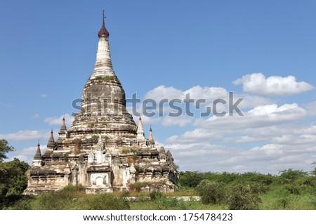 Buddhist temples in Bagan, Myanmar - stock photo