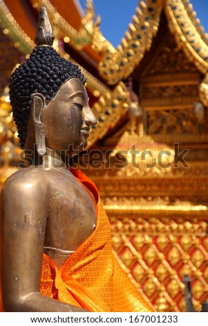 Buddhist temples in Chiang Mai Thailand - stock photo