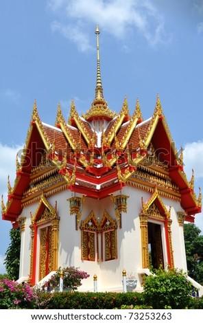 Buddisky temple complex on island Phuket - stock photo