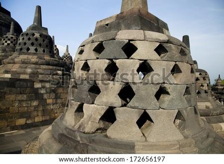 Buddist temple Borobudur, Yogyakarta, Java, Indonesia - stock photo