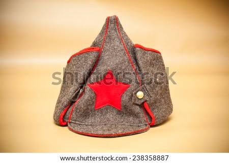 Budenovka cap. Cap for bath and sauna - stock photo