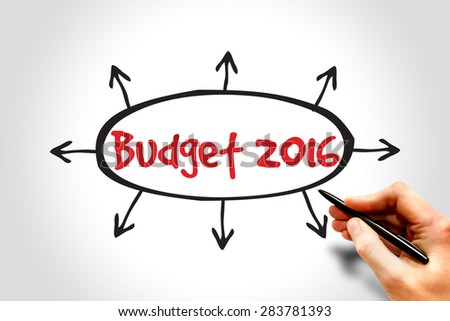 Budget 2016, business concept - stock photo