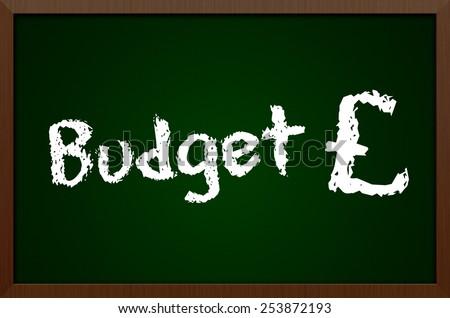 Budget Chalkboard Concept - stock photo