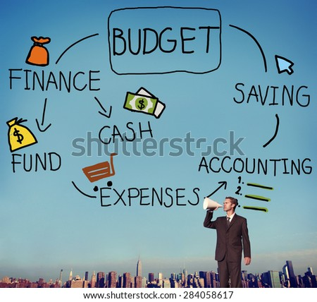 Budget Finance Cash Fund Saving Accounting Concept - stock photo