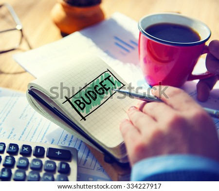 Budget Fund Investment Capital Economy Concept - stock photo