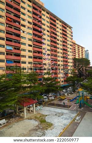 Budget residential apartment in Kuala Lumpur, Malaysia. - stock photo