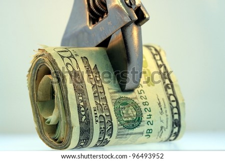 Budget Squeeze - stock photo