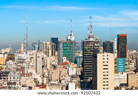 Buenos Aires Argentina, panoramic view of the commercial center - stock photo