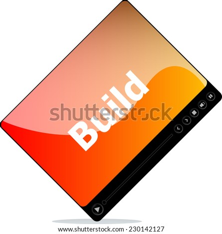 build on media player interface - stock photo