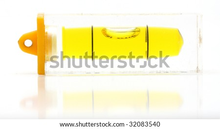 Builder's level - on white background - stock photo