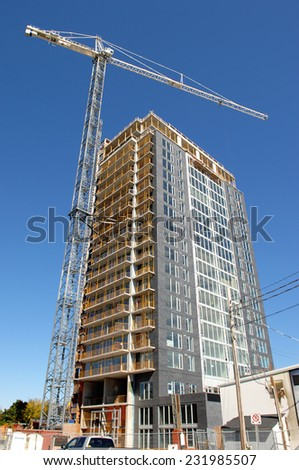 Building a high rise. - stock photo