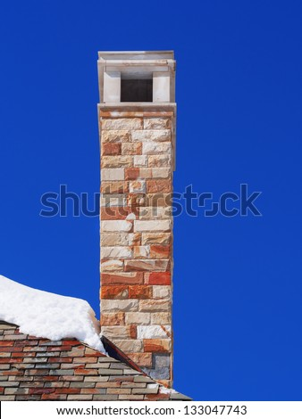 building a new roof of home - stock photo