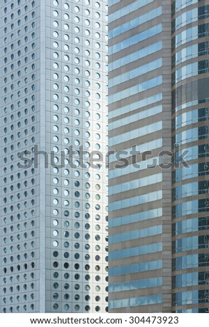 Building abstract. Details of modern office building - stock photo