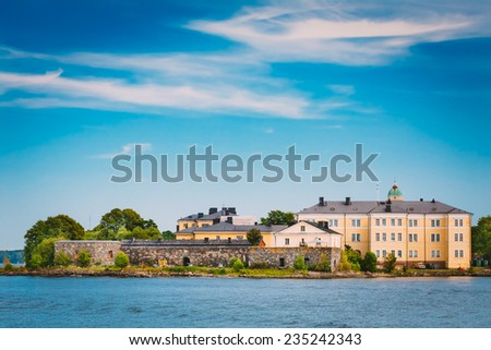 Building At Suomenlinna Fortress In Helsinki, Finland - stock photo