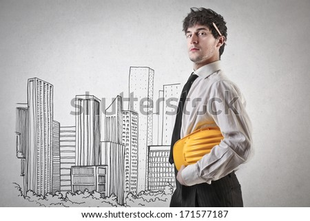 building cities - stock photo