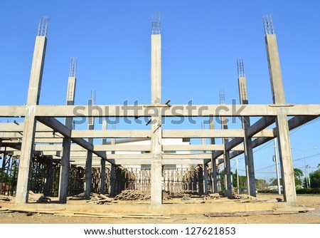building construct site - stock photo
