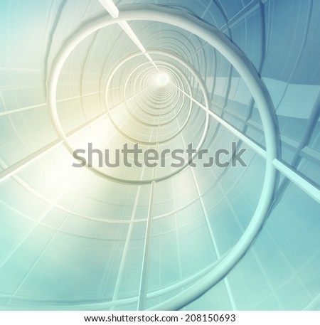Building construction. Abstract futuristic background - stock photo