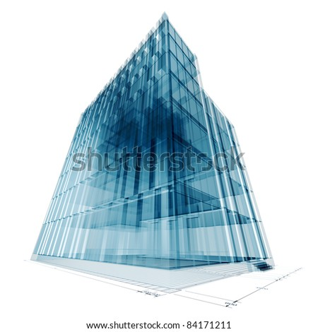 Building construction. Architecture 3d project - stock photo