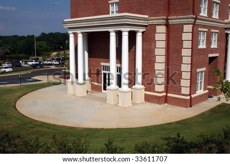 Building Exterior with Columns at the University of Mississippi - stock photo