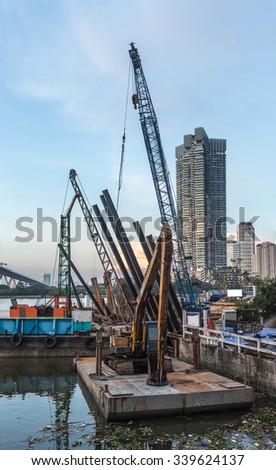 Building Floodgates - stock photo