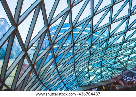 building glass, modern architecture - stock photo