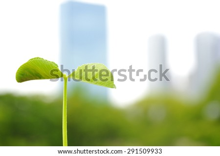 Building group and the ecology - stock photo