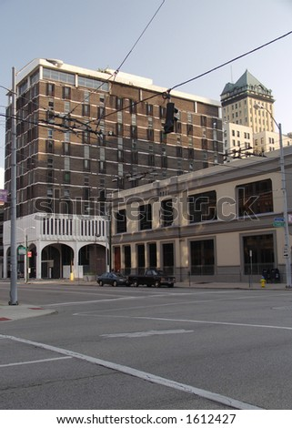 Building in downtown Dayton - stock photo