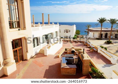Building of the luxury hotel, Sharm el Sheikh, Egypt - stock photo