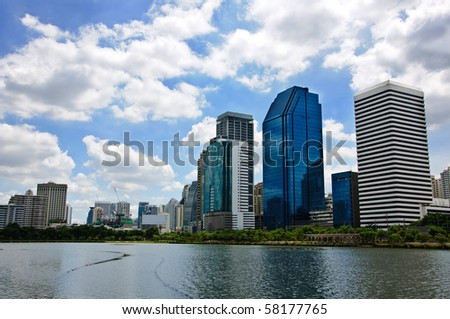 Building on cloudy day - stock photo