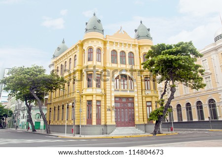 Building on the ancient Recife - Pernambuco - Brazil - stock photo