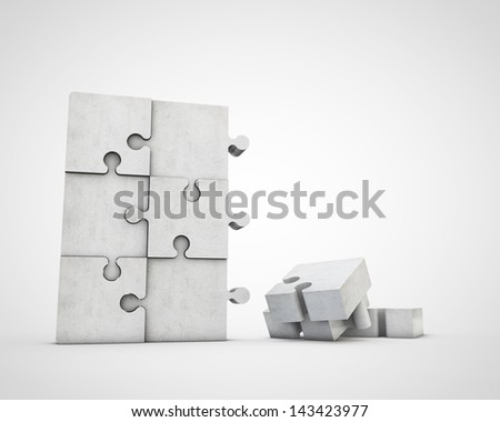 building puzzle - stock photo
