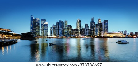 Building Reflect Bay Modern Business Office Concept - stock photo