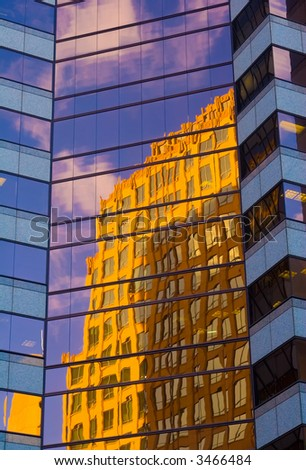 Building Reflection - stock photo