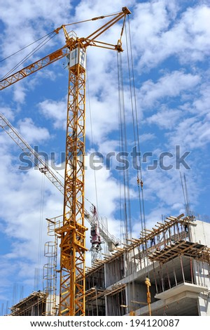 Building site detail - stock photo