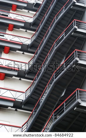building stairs - stock photo