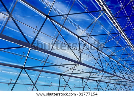 Building structure against the sky. - stock photo