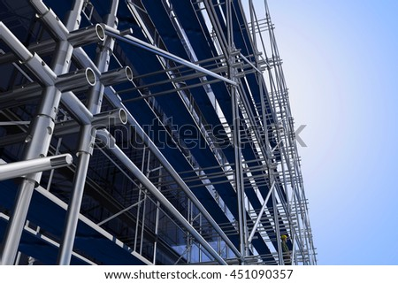 Building structure against the sky.,3d render - stock photo