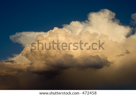 Building supercell over the plains of Colorado - stock photo