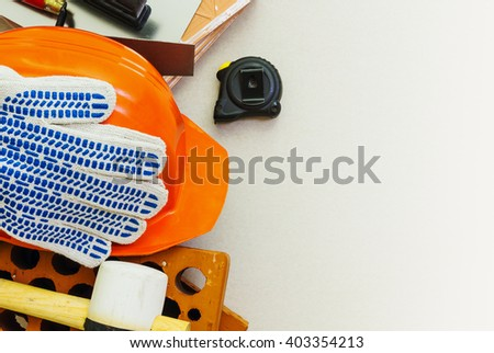 Building tools mason - stock photo
