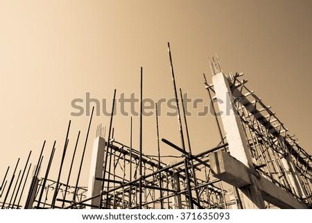Building under construction implement - stock photo