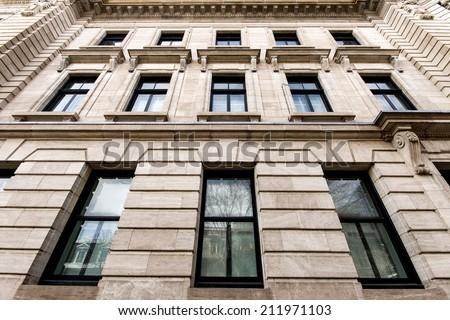 Building windows of Montreal - stock photo