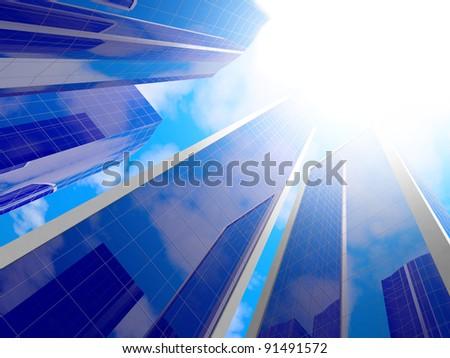 Buildings. - stock photo