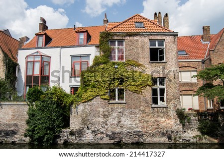 Buildings in Brugges - stock photo