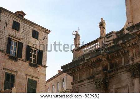 Buildings in Dubrovnik, Croatia. - stock photo
