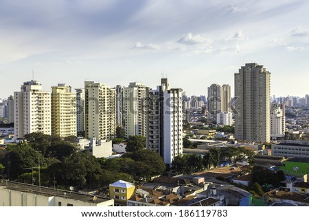 Buildings in Sao Paulo, Brazil - stock photo