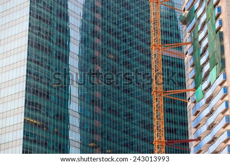 Buildings in Singapore - stock photo