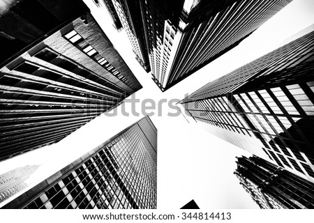Buildings low angle view - stock photo